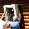 Как смонтировать окна в срубе…