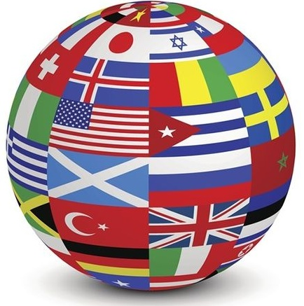Шар с флагами стран